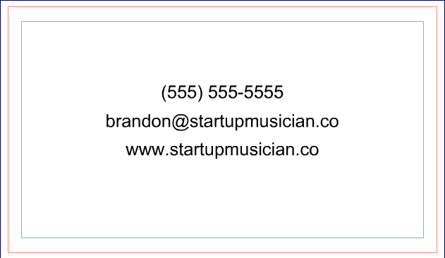Musician Business Card 6