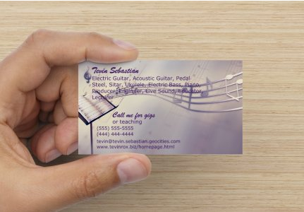 You need a business card startup musician musician website 9 reheart Gallery