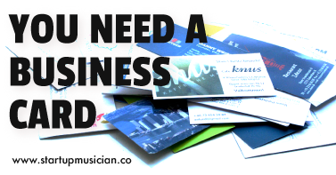 You need a business card startup musician you need a business card reheart Choice Image