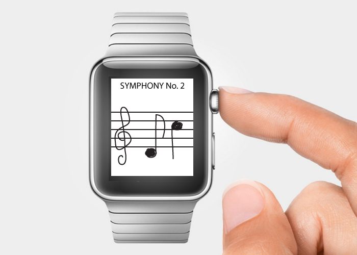 Apple Watch Music Notation