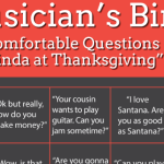 "Musician's Bingo – ""Uncomfortable Questions From Aunt Linda at Thanksgiving"" Edition"