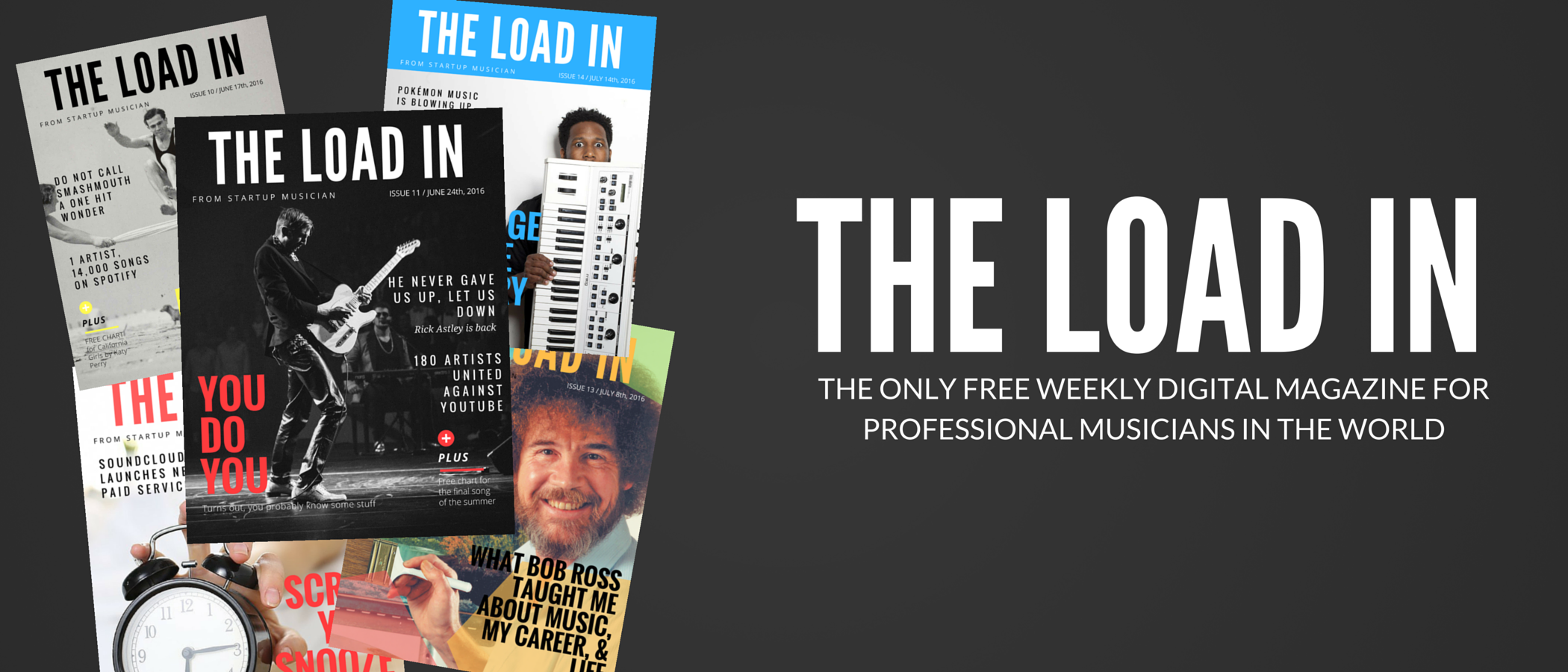 THE ONLY FREE WEEKLY DIGITAL MAGAZINE FOR PROFESSIONAL MUSICIANS IN THE WORLD-2