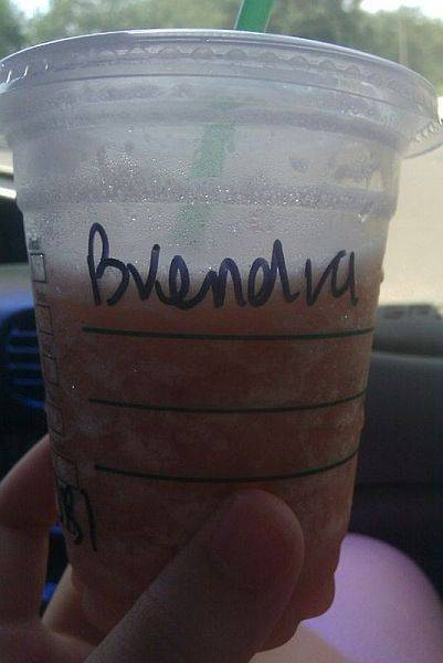 I'm so tired, I don't know if the Barista screwed up my name, or if that's how I just pronounce it now.